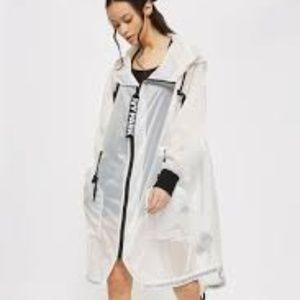 IVY PARK Para PARKA Sheer White LONGLINE XL New